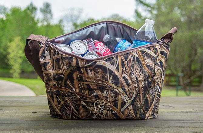Be One Of The First To Show Off Our New Ducks Unlimited Mossy Oak Shadow Grass Blades Pattern With This Exclusive Du Camo Cooler Bag