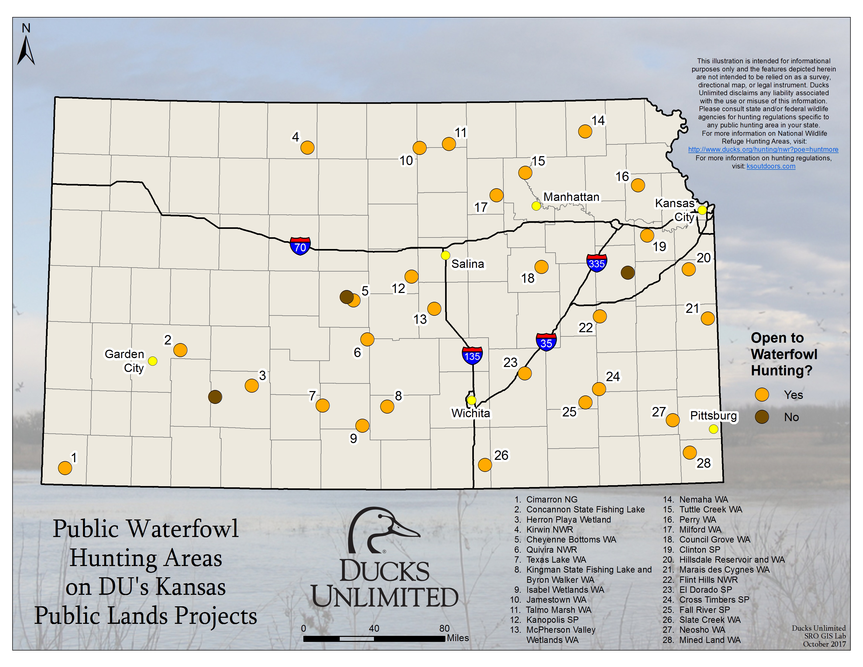 Public Waterfowl Hunting Areas on DU Public Lands Projects on map of kansas highways, map of kansas state parks, map of kansas lakes, map of kansas aquifer,