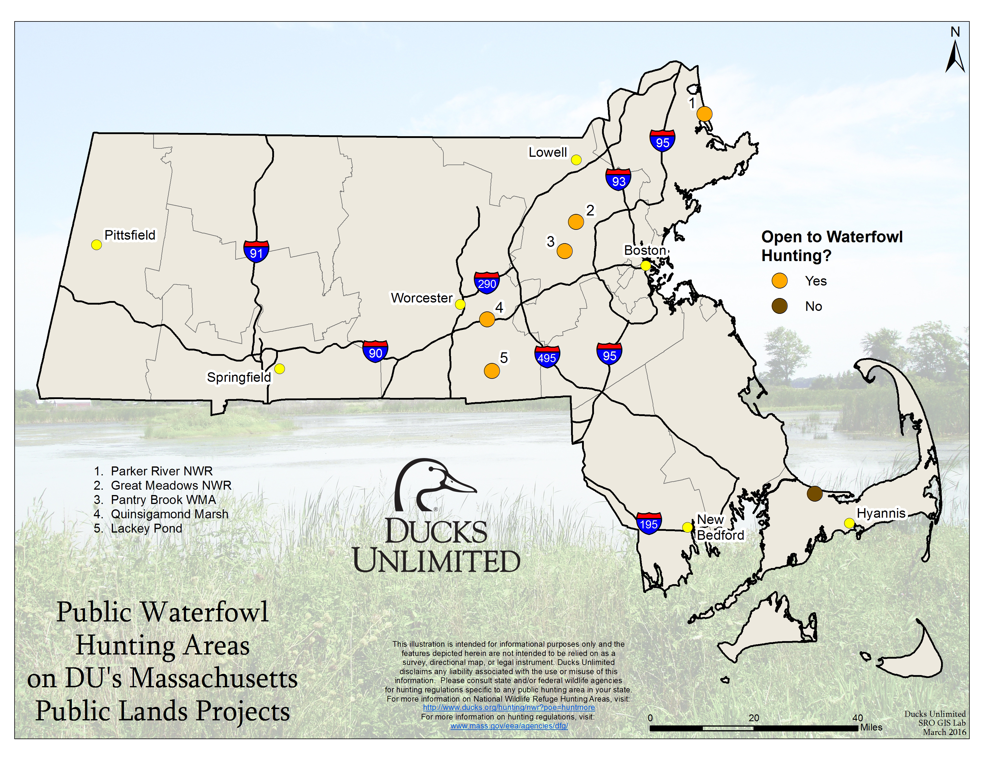 Public Hunting Land Wisconsin Map.Public Waterfowl Hunting Areas On Du Public Lands Projects