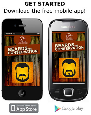 Download the DU Beards for Conservation app.