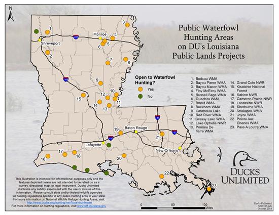 Public Hunting on DU Projects in Louisiana
